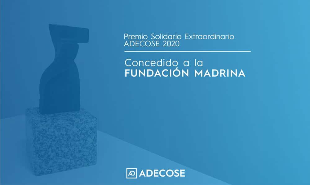 ADECOSE entrega su segundo premio solidario del año a la Fundación Madrina